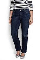 Classic Women's Plus Size Mid Rise Straight Leg Jeans-Medium Indigo Wash