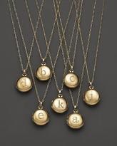 "Monica Rich Kosann 18K Yellow Gold Petite Diamond Initial Locket Necklace, 30"""