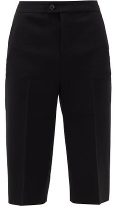Altuzarra Magee Knee-high Grain De Poudre Shorts - Womens - Black