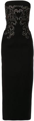 Saiid Kobeisy Embroidered Sleeveless Dress