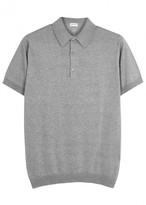 John Smedley Adrian Grey Fine-knit Cotton Polo Shirt