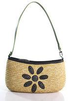Cole Haan Brown Canvas Zipper Closure One Pocket Shoulder Handbag