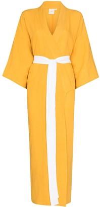 Deiji Studios Tied Waist Linen Robe