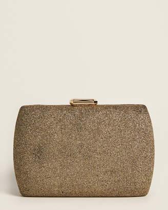 Sondra Roberts Bronze Glitter Clutch