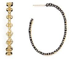 Freida Rothman Visionary Fusion Clover Crest Hoop Earrings
