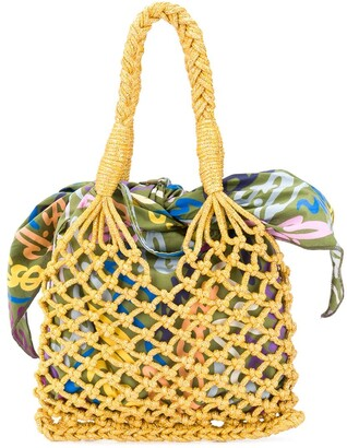 M Missoni Open Knit Tote