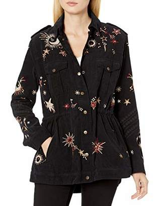 3J Workshop by Johnny was Women's Canvas Military Style Jacket with All Over Embroidery