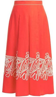 Loro Piana Dolly Antigua Summer A-Line Skirt