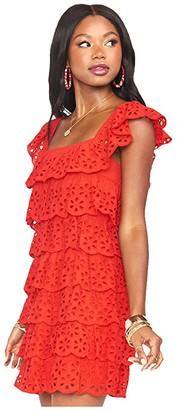 Show Me Your Mumu Lucy Mini Dress (Cherry Eyelet) Women's Dress