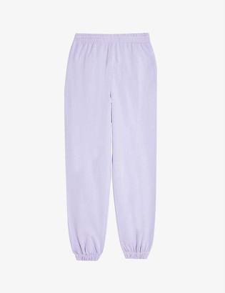 Topshop Fluorescent cotton-blend jersey jogging bottoms