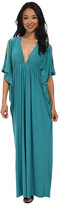 T-Bags LosAngeles Tbags Los Angeles Open Sleeves Bat Wing Maxi Dress with Cutout Back