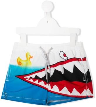 Mc2 Saint Barth Kids Haiti Shark swim shorts