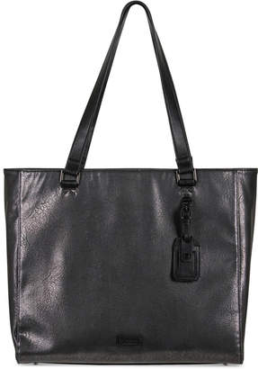 Kenneth Cole Reaction Tote-ally Silver Faux-Leather Tote
