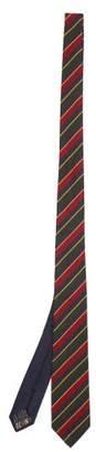 Missoni Striped Silk Twill Tie - Mens - Blue Multi