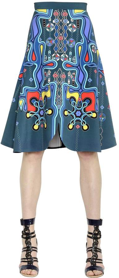 Peter Pilotto Printed Crepe Midi Skirt