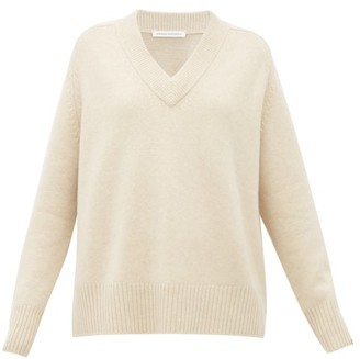 Extreme Cashmere - No.124 Vital Stretch-cashmere V-neck Sweater - Womens - Ivory