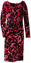 Tracy Reese Women's Long Sleeve Printed Side-Zip T Dress
