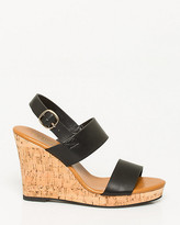 Le Château Leather-Like Wedge Slingback