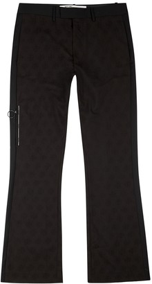 Off-White Black wool-jacquard trousers