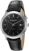 Raymond Weil Men's 2237-STC-20001 Maestro Analog Display Swiss Automatic Black Watch