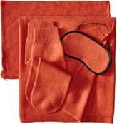 Sofia Cashmere Women's Jersey Travel Set with Blanket Eye Mask and Socks