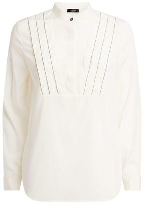 Peserico Chain-Detail Mandarin Collar Sweater