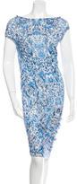 Alexander McQueen Wool Printed Dress w/ Tags