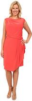 Adrianna Papell Plus Size Asymmetrical Drape Jersey Dress