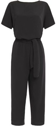 Vanessa Bruno Cropped Knotted Crepe Jumpsuit