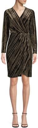 Calvin Klein Glitter Velvet Surplice Dress