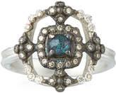 Armenta New World Crivelli Square Ring w/ Opal/Quartz
