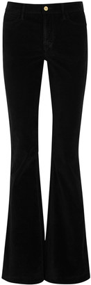 Frame Le High Black Flared Velvet Jeans