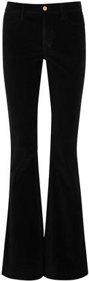 Frame Le High black flared velvet jeans