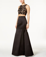 Xscape Evenings X by 2-Pc. Lace and Satin Gown