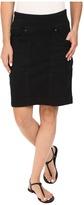 Jag Jeans Janelle Pull-On Skirt Comfort Denim in Black Void