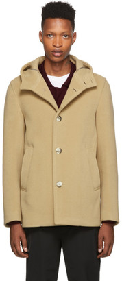 Herno Tan Wool Thick Coat