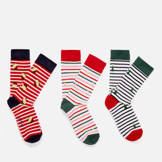 Joules Women's Cracking Sock 3 Pack