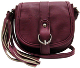 Burgundy Mini Saddle Crossbody Bag