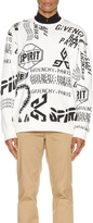 Givenchy Logo Melange Print All Over Sweatshirt in Off-White | FWRD