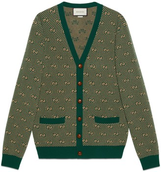 Gucci GG stripe wool cardigan