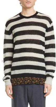 Dries Van Noten Jevanna Stripe Crewneck Sweater