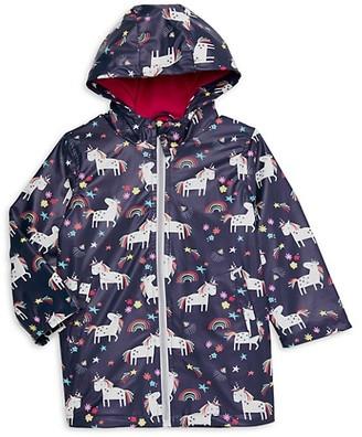 Pink Platinum Little Girl's Unicorn-Print Hooded Jacket