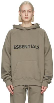Essentials Taupe Pullover Logo Hoodie