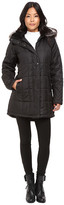 KC Collections Quilted Puffer with PU Trim