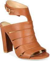Thalia Sodi Wide-Width Ebbony Strappy Dress Sandals, Created for Macy's