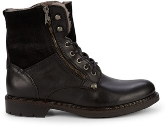 Pajar Mason Faux Shearling & Leather Combat Boots