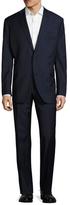 Saks Fifth Avenue Wool Striped Notch Lapel Suit