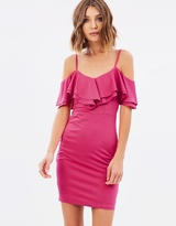 Miss Selfridge Frill Cold Shoulder Slinky Dress