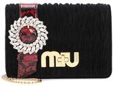 Miu Miu Embellished velvet shoulder bag