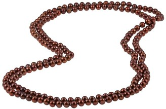 DaVonna 7-8mm Brown Freshwater Pearl Endless Necklace, 64-inch